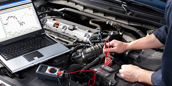 electric diagnostics on a car
